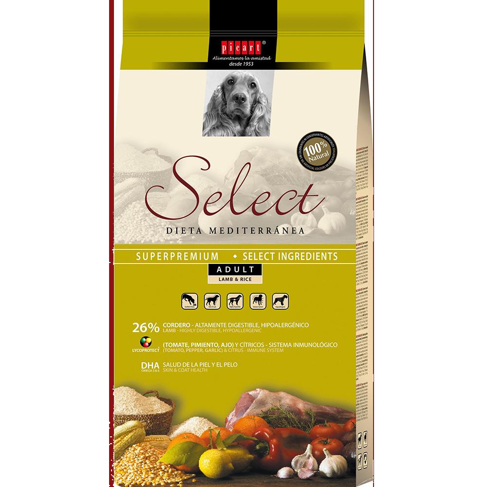Pienso Natural Perros Select Adult Lamb & Rice